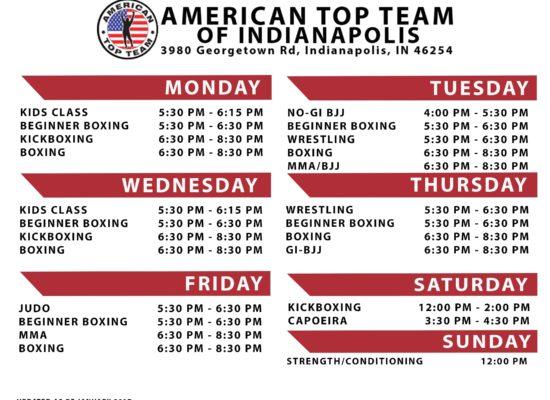 Schedule, Classes, ATT