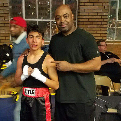 Rodolfo Ponse after his first win in the 2017 Indiana Golden Gloves Tournament